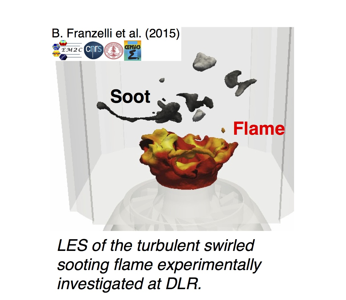 LES of FIRST sooting flame